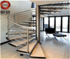Escaleras redondas de madera de acero modificadas para requisitos particulares Yd-Gmx02