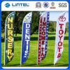 Poteau de drapeau de la publicité de bannière en plein air à la larme en plein air (LT-17C)