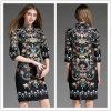 Женщин ворота стойки способа зимы OEM 2015 поставщика Китая платье Bodycon самых последних тонкое