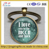 I Coil You to The Moon and Back Keychain, Word Keychain, Your Choice off Keychain Finish, Unique Key Ring Customized Gift, Everyday Gift Key Chain