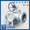 Vávula de bola de tres vías del borde del acero de carbón de Didtek
