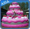 巨大で膨脹可能なケーキの広告のための膨脹可能な気球のケーキのヘリウムの気球