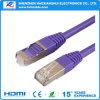 cavo della rete di comunicazione placcato oro CAT6 di alta qualità di 1.5m