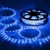 Corda de leds flexíveis com luz de cor azul