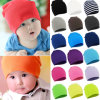 Winter Unisex Toddler Infant Colorido bonito algodão macio Beanie