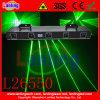 Lente de cinco de la luz de láser verde/DJ Show láser de haz verde