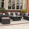 2015 Mobília de exterior em vime de luxo - Sofás de três lugares, móveis de jardim de ratã