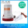 Seaflo 2000gph 12V bateria bomba de água operado para barcos
