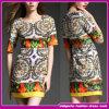 Neue Ankunfts-Damen, die Yiwu-schönes gedrucktes kurze Frauen-Form konzipiertes Kleid (QW001, kleiden)