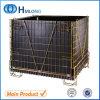 Jaulas de acero plegables del acoplamiento de alambre del almacenaje del metal