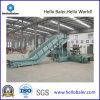 Grosse vente hydraulique horizontale les déchets de papier, les déchets textiles, vêtements de déchets le cerclage en appuyant sur la machine