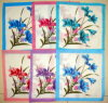 Lady 100% coton imprimé fleur mouchoir-003