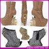 Venda por grosso União nova chegada Gold e Silver alto calcanhar sapatas das mulheres (S452633)
