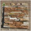 Piedra de madera amarilla de madera vendedora caliente de la cultura de la chapa de la piedra de la pizarra de St-014n