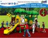 Equipamento ao ar livre Hf-16601 do campo de jogos das crianças verdes da folha