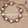 Weißes Hälfte-Perle Legierungs-Armband (XBL12010)