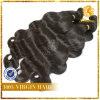 6A grado 100% de la Virgen sin procesar peruana extensión del pelo humano de la trama de la onda del cuerpo (TFH-NL0068)