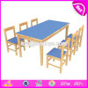 도매 싼 아이들 1 차와 유치원 W08g231를 위한 나무로 되는 학교 테이블 그리고 의자