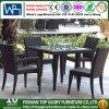 Tableau dinant et présidences de meubles de jardin de rotin dinant le patio extérieur réglé (TG-368)