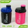 علامة تجاريّة طباعة [300مل] بلاستيك صنع وفقا لطلب الزّبون بروتين رجّاجة فنجان زجاجة