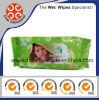 Baby Wipes Flow Pack 80CT Têxtil úmido livre de álcool