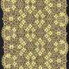 パーティー向きのドレスのための方法黄色の伸張のTextronicのレースのトリム