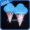 捕獲のためにライトが付いている膨脹可能なアイスクリームの気球を広告する大きい気球世間の注目