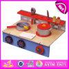 2015 jogos de madeira do brinquedo da cozinha do miúdo novo da chegada, o jogo da cozinha das crianças DIY e aprendem o brinquedo, cozinha de madeira W10c152 do brinquedo do console do jogo engraçado