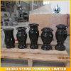 묘지를 위한 High Quality Black Granite Vase의 요인 Direct Sale