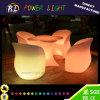 Meubles de jardin imperméable PE en plastique LED Glow Sofa