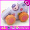 O carro de madeira colorido relativo à promoção quente do brinquedo do bebê, carro de bebê de madeira do carro do brinquedo da melhor classe da parte superior da venda mini brinca W04A178A
