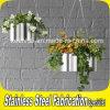 Potenciômetro interno e ao ar livre do plantador da flor do aço inoxidável