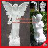 Het Marmeren Beeldhouwwerk van het Beeldhouwwerk van de Engel van de Steen van het Standbeeld van de Engel van de steen