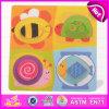 2015 Nouveau Populaire Puzzle en bois pour les enfants, design unique Puzzle en bois jouet et coloré, jeu de puzzle en bois de conception d'animaux W14L009