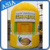 팽창식 레몬 부스, 부스 바 천막을 광고하는 팽창식 레몬네이드 깡통