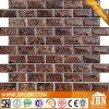 Mosaïque en verre de clinquant de Brown foncé pour le mur (G838004)