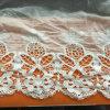 Largura do corte 100%de tecido de algodão tecido renda branca Solúvel em água para a saia da Menina
