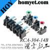 새로운 도착 제품 다중 매체 Displayer 로터스 RCA Pin 잭 의 AV 오디오 입체 음향 RCA 연결관