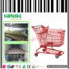 Покрытие красной большой тележки вагонетки покупкы супермаркета пластичное