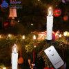 Les plus nouvelles bougies d'église de Noël de la lumière de chaîne de caractères de DEL