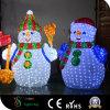 muñeco de nieve de 3D LED para la decoración de la alameda de compras