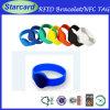 Bracelet personnalisé de silicium de /RFID de bracelets de silicone d'IDENTIFICATION RF