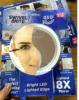 8X espejo del Brite del eslabón giratorio de las luces de la lupa 360 LED