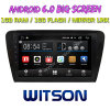 Witson gran pantalla de 10,2 de Android 6.0 alquiler de DVD para Volkswagen Skoda Octavia 2014