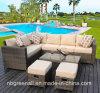 多機能のテラスのコーナーの屋外のソファーは庭の藤の家具をセットする