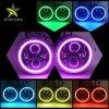Control remoto de fábrica resistente al agua el cambio de Colord Anillo Halo RGB Angel Eyes DRL Ronda 7, faros LED para Jeep