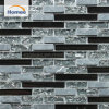 Nuevo diseño en negro brillante de hielo crepitar piedra mosaico de vidrio
