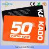 Cartão de impressão PVC RFID ISO 13,56 MHz MIFARE 4K S70 cartão do bilhete de metro de Transportes Públicos