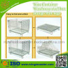Storage plegable Steel Wire Mesh Container y Folding Grille Box
