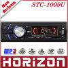 Joueur de MP3 de voiture, rendement de puissance de sortie de STC-1009U 2 aux. dedans et de RCA 2 : (7377 IC) radio 4CH*7W avec le joueur MP3